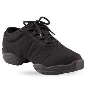Capezio canvas split sole dancewear sneakers black
